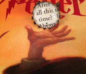  After All This Time Always Harry Potter Antiqued Bronze Ornate Book Page Ring Snape Dumbledore Lily