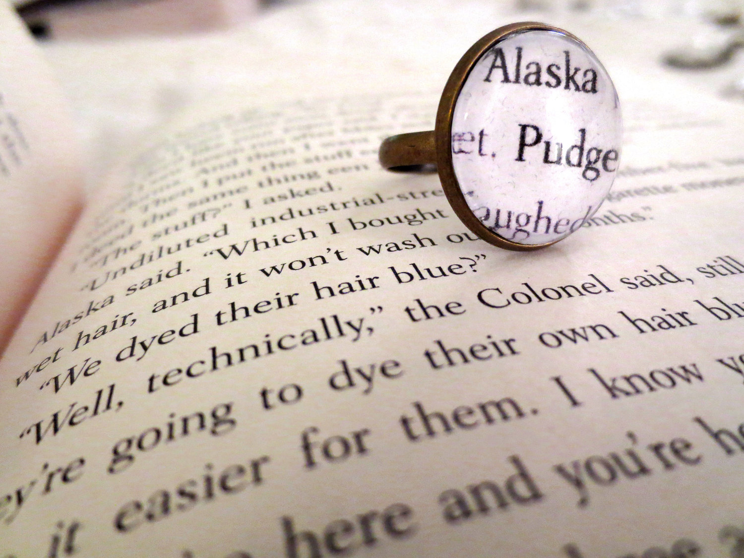 Looking For Alaska Alaska And Pudge Antiqued Bronze Adjustable ...